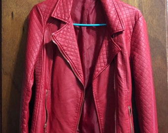 RED MOTO JACKET size S