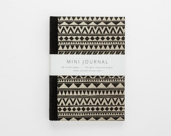 SHAPES eco-friendly journal with geometric tribal print A6