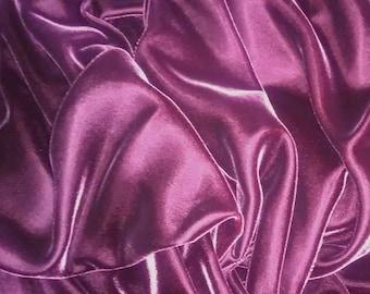 Vintage Deep Violet Velvet Fabric