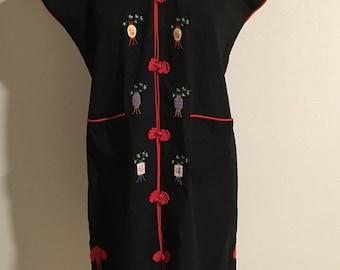 Size L 1970s Cotton Asian Dress