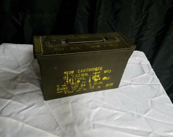 1960s military ammo box for M60