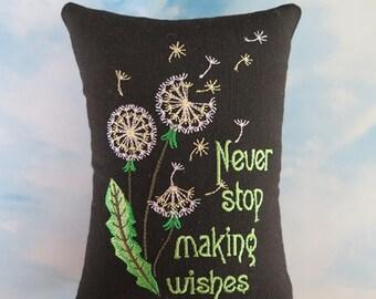 Dandelion Wish Tuck pillow