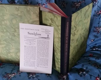"""Heritage Press Illustrated """"Confession of an English Opium-Eater"""" w/ newsletter"""