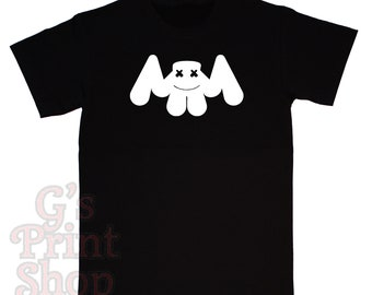 Marshmello Logo T Shirt - Electronic Dance - Hip Hop - Christopher Comstock - Keep it Mello - Speak Your Mind - White