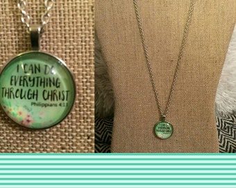 I can do everything through Christ pendant necklace