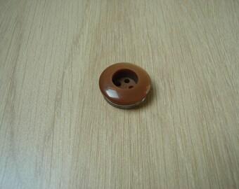 large round beige vintage button