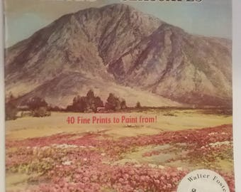 Vintage How to Draw Book, Painting Landscapes, Painting Seascapes, Robert Wood Paints, Walter Foster Art Books, 1950s How to Paint Book, Art