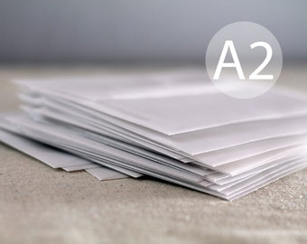 "25 A2 Translucent / Vellum Envelopes - Translucent White RSVP Envelopes 4.375 x 5.75 inches ( 4 3/8"" x 5 3/4"")"