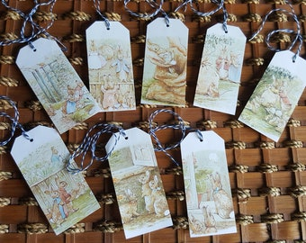 Beatrix Potter Peter Rabbit Gift Tags - Easter, Baby Shower, Birthday party
