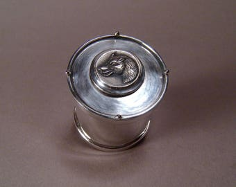 Sterling Silver Wolf Stash Trinket Reliquary Box