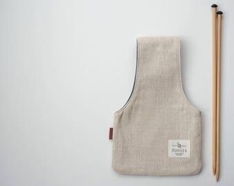 Knitting Project Bag, knitting bag, Small knitting wristlet, Knitter's gift, needlecraft bag