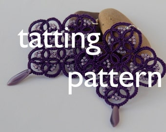 PDF Arete earrings - tatting pattern by littleblacklace - instant download