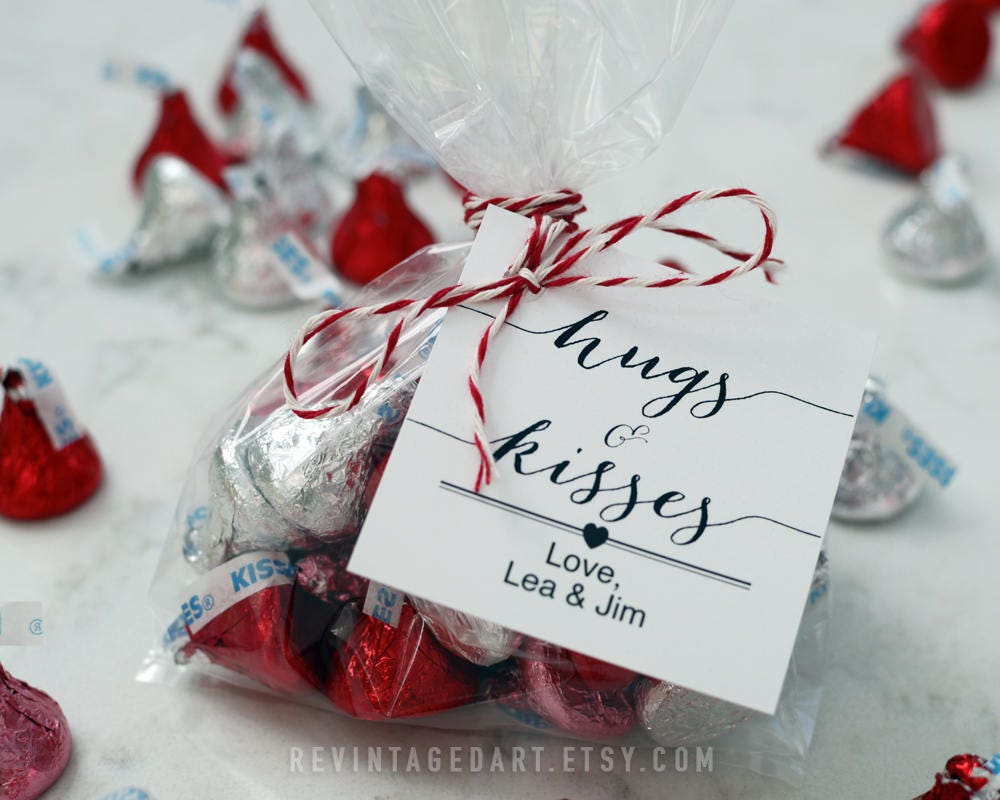 Hugs and Kisses Tag // Printable Hershey\'s Kiss Gift Tag