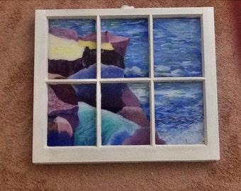 Window paned beach