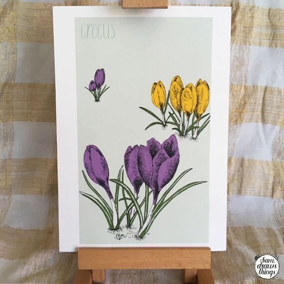 Crocus art print for the Flower Power Fund