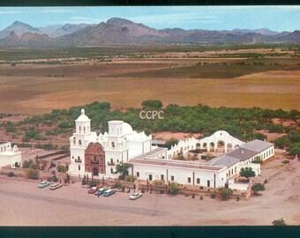San Xavier Del Bac Near Tucson Arizona 1969 Posted Aerial Photo Postcard