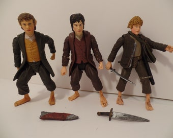 1990s Lord of the Rings Hobbits- Sam Frodo - LOTR - Action Figure