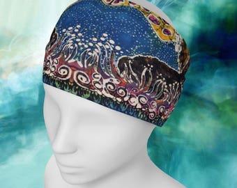 Headband/Scarf - Hills Alive With Llamas - Llama Batik