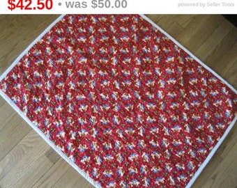 Baby First Christmas, Baby Quilt, Handmade Quilt, Christmas Quilt