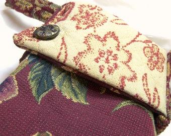 Small bag Fabric Handbag Fashion Purse Tote Tarot Bag Recycled Hobo Bags Modern Tote Small Purse gift for her Tarot bag wine sack upcycled