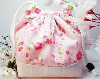 Pink Sakura Drawstring Pouch