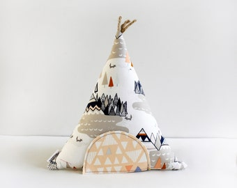 Tooth Fairy Pillow, Tooth Fairy Teepee, Toy Pillow, Kids Room Decor, Gift For Children, Stuffed Toy, Keepsake, Tipi, Special Occasion