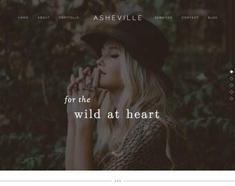 Website design, website template, Wordpress template, Showit 5, Showit, Showit 5 website design, website — Asheville