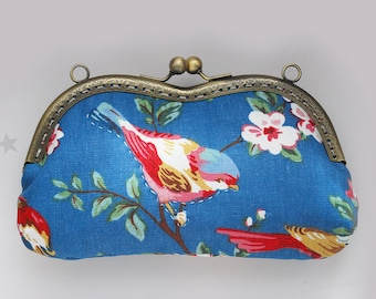 Vintage Blue Birds Glasses case