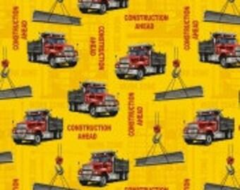 "Fleece, Construction,trucks,Baums Textile 60"" wide"