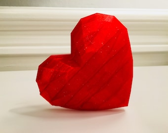Large diamond heart made of red-glittering plastic. Exclusive Collector's item only available here.