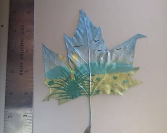 Spray Painted Leaf