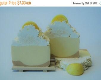 On Sale Lemon Meringue Pie Artisan Soap Small Bar