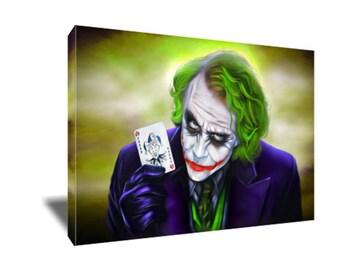 FREE SHIPPING The Dark Knight Joker Business Card Canvas Art
