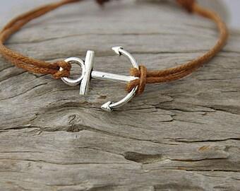 Anchor bracelet, sailing bracelet, beach jewelry, boho jewelry, Anchor jewelry, minimalist bracelet, Boat jewelry, island style, sailors