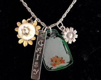 SALE! Crazy Daisy charm necklace