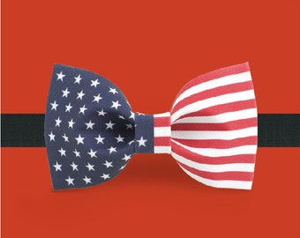Flag Bowtie - American Bowtie - American flag bowtie - 4th of July bowtie - Independence day