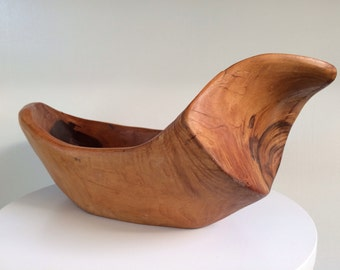 Modern Organic Design Hand Carved Bowl