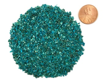 Crushed Dark Chrysocolla, Stone Inlay, Medium, 1/2 Ounce