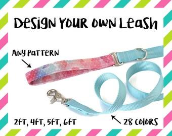 "Design Your Own Dog Leash, 2ft 4ft 5ft 6ft, Custom Dog Leash, Traffic Lead, Leash, Dog Lead, Pet Leash, 1"", Nylon Designer Dog Leash"