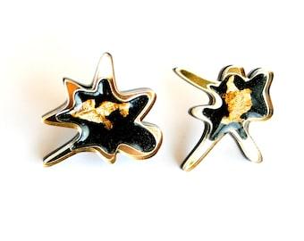 PANIKA Blot earrings Black