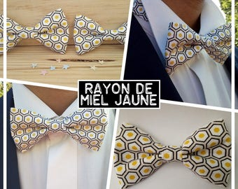 """Collection """"Ray of honey yellow"""" bowtie men/teen/child/baby"""