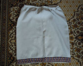 Ukrainian hand embroidered woman's Skirt. Made in ukraine. Gift national style. Ukrainian souvenir. Ukrainian embroidery. Ukrainian clothing