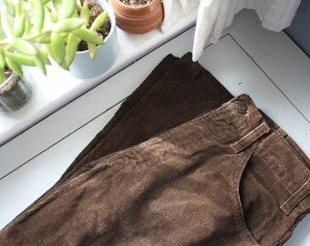 Brown Flared Levi's Corduroy Pants