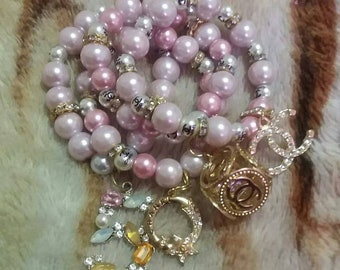 Chanel inspired pearls stackable set