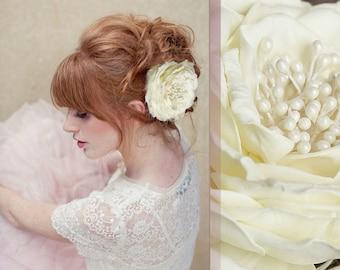 Hairpin with handmade rose