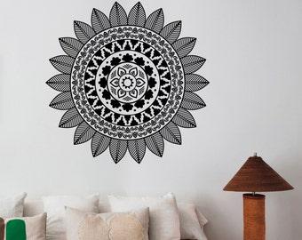 Mandala Wall Decal Vinyl Sticker Indian Ornament Decorations for Home Housewares Living Room Yoga Studio Dorm Namaste Decor mnd13