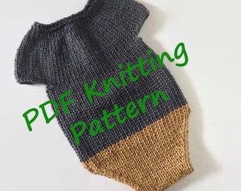 DOWNLOADABLE pdf PATTERN, knitting pattern, knit romper pattern, baby romper, newborn romper sitter romper, knit newborn photo prop pattern