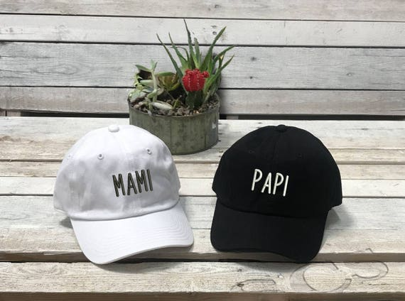 PAPI & MAMI Dad Hat |Embroidered Expecting Parents Baseball Cap |Couples Hats |Boyfriend Gift |Girlfriend Gift | Couples Gift| Matching Hats
