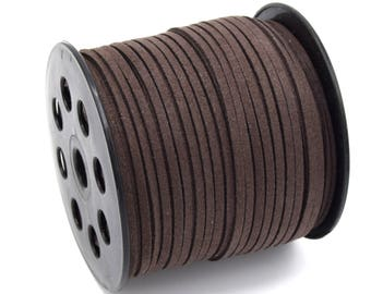 Suede cord 3mm Brown batch of 2/5/8/10 m