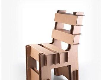 2. Sturdy handmade corrugated cardboard chair